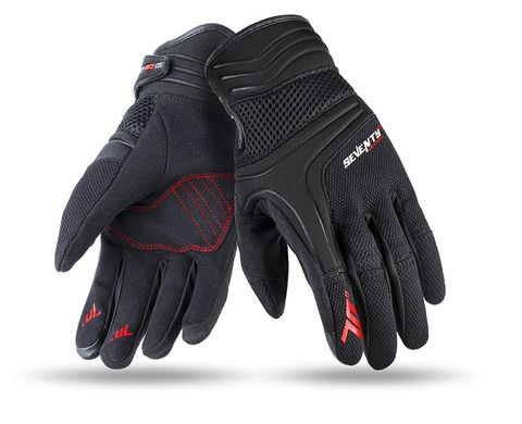 Мотоперчатки SEVENTY C18 MAN BLACK/RED L