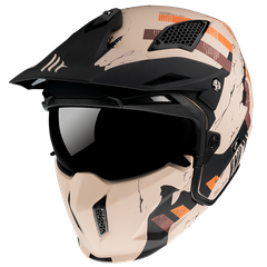 Мотошлем MT STREETFIGHTER SV SKULL 2020 Matt Orange XS
