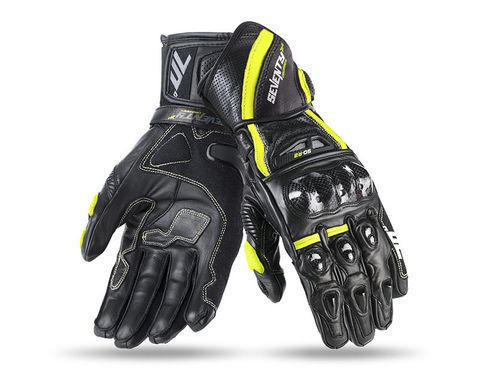 Мотоперчатки SEVENTY R2 MAN BLACK/YELLOW L