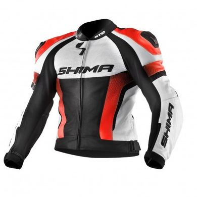 Мотокуртка Shima STR Orange Fluo/ White, M