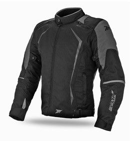 Мотокуртка SEVENTY SD-JR47 RACING MAN BLACK/GREY з підстібкою L