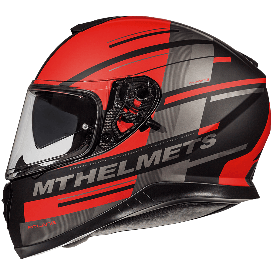 Мотошлем MT THUNDER 3 SV PITLANE MATT RED XS